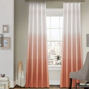 VUE arashi ombré embroidered curtain panel 95""
